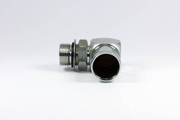 Picture of C60- Clamp-On Hosetail 90° Close M/M SAE O-Ring Boss x Tail