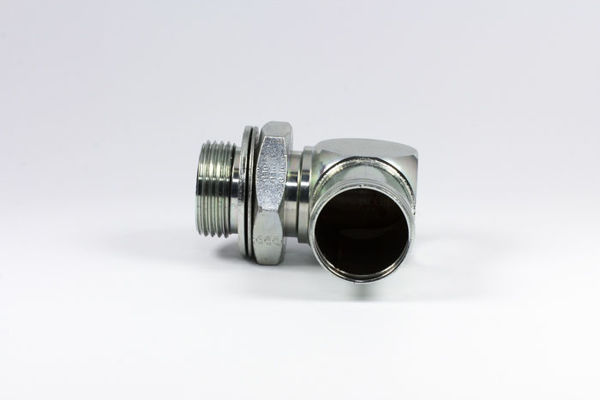 Picture of CP60- Clamp-On Hosetail 90° Close M/M BSPP x Tail