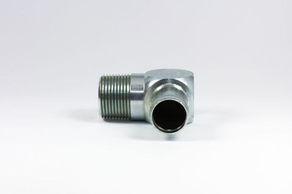 Picture of CN60- Clamp-On Hosetail 90° Close M/M NPTF x Tail
