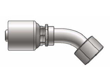 Picture of MegaCrimp - 45° Tube Female SAE Swivel