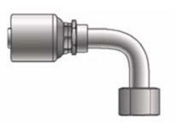 Picture of MegaCrimp - 90° Tube Female SAE Swivel