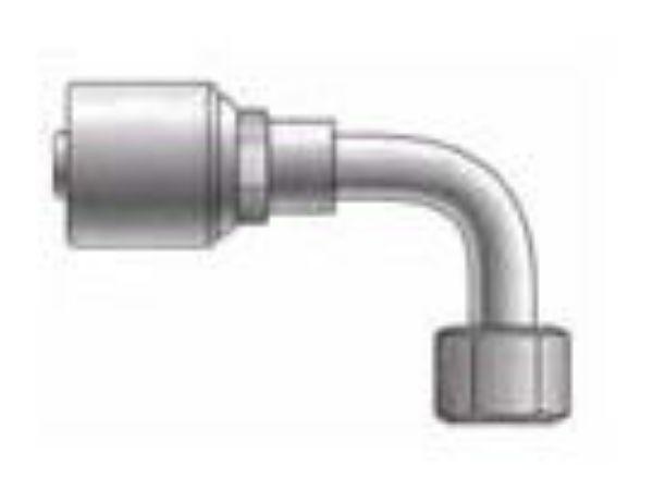 Picture of MegaCrimp - 90° Tube Female ORFS Swivel