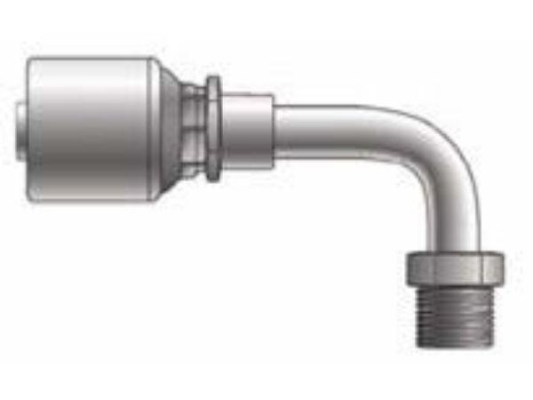 Picture of MegaCrimp - 90° Tube Male SAE Swivel