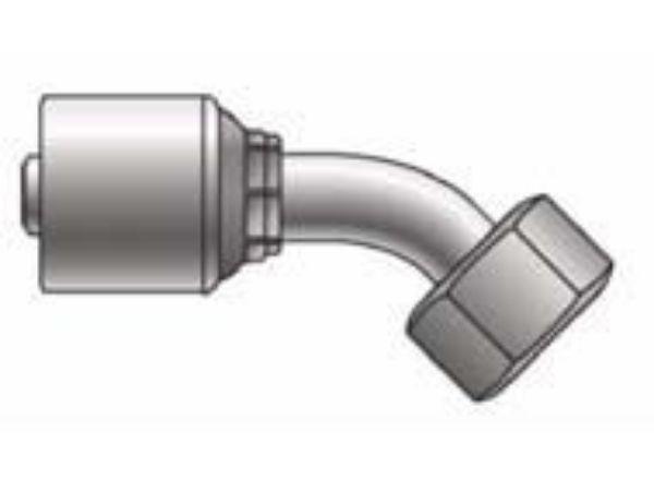 Picture of MegaCrimp - 45° Tube Female DIN Light Swivel