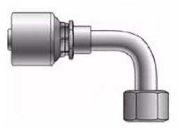 Picture of MegaCrimp - 90° Tube Female DIN Heavy O-Ring Swivel