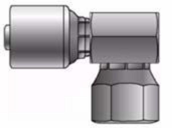 Picture of MegaCrimp - 90° Close Female BSPP Swivel