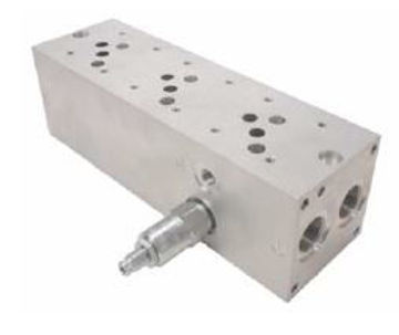 Picture of SMC5 CETOP 5 Multi Station Manifold with Relief Valve.