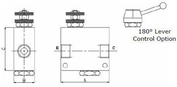 Picture of VPR/2/U - Pressure Compensated Flow Control In-Line Valve Series