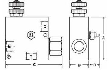 Picture of VPR/3/ET/VMP - Pressure Compensated Flow Control with Relief In-Line Valve Series