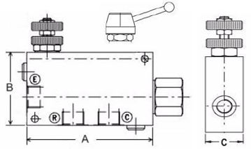 Picture of VPR/3/EP - Pressure Compensated Flow Control In-Line Valve Series