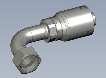 Picture of Global Series Max - 90° Tube Female DIN Heavy O-Ring Swivel